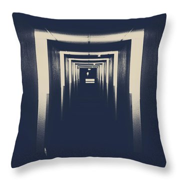 The Closed Doors Throw Pillow by Jerry Cordeiro