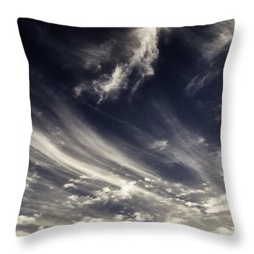The Clouds And The Mountain Throw Pillow by Rajiv Chopra