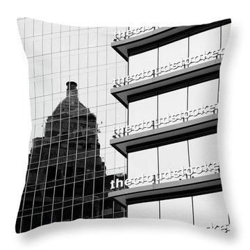 Throw Pillow featuring the photograph The Clouds by Chris Dutton
