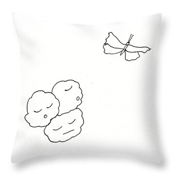 The Clouds Looked Down Their Noses Throw Pillow