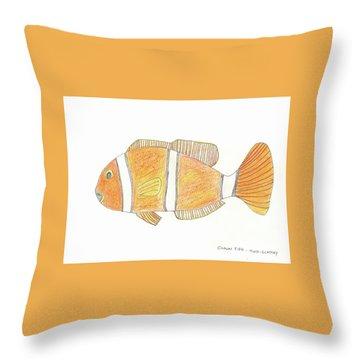 The Clown Fish Throw Pillow