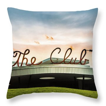 Throw Pillow featuring the photograph The Club Birmingham by Parker Cunningham