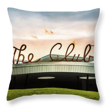Throw Pillow featuring the photograph The Club Panorama by Parker Cunningham