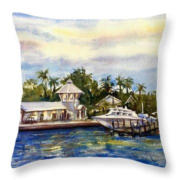 The Coast Of Nassau Throw Pillow