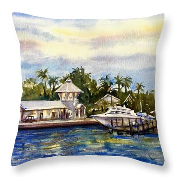 The Coast Of Nassau Throw Pillow