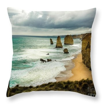 Throw Pillow featuring the photograph The Coast by Perry Webster