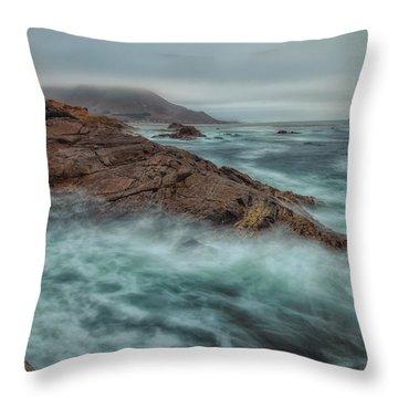 The Coastline Throw Pillow