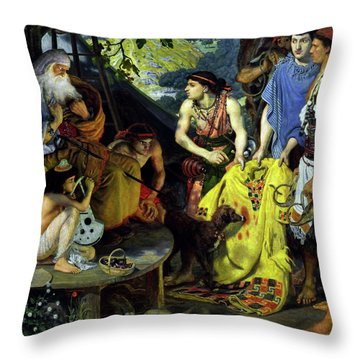 The Coat Of Many Colors Throw Pillow