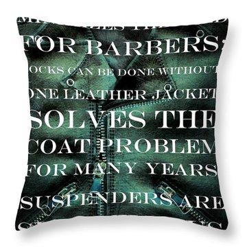 The Coat Problem 2.0 Throw Pillow