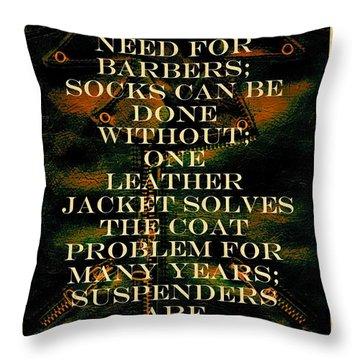 The Coat Problem Throw Pillow