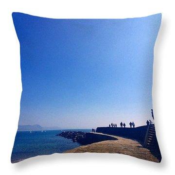The Cob - Lyme Regis Throw Pillow