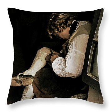 The Cobblers Window Throw Pillow