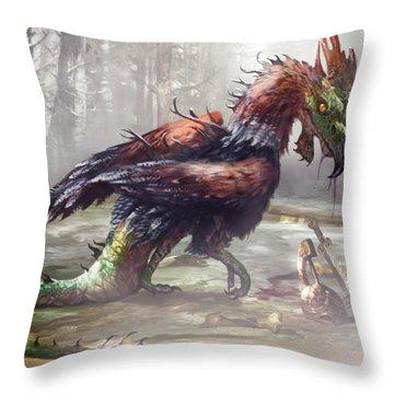The Cockatrice Throw Pillow