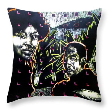 The Coffee Vendor Throw Pillow by Chester Elmore