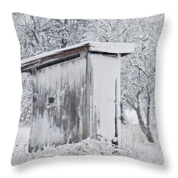 The Coldest Fifty Yard Dash Throw Pillow