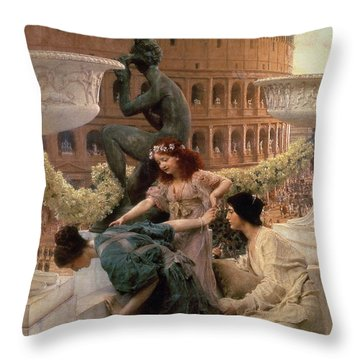 The Coliseum Throw Pillow by Sir Lawrence Alma-Tadema