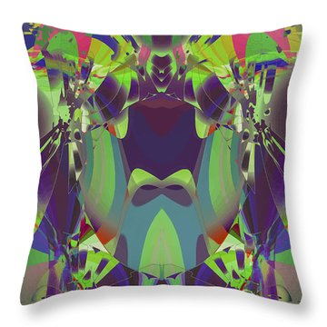 The Color Mask Throw Pillow