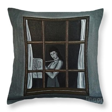 The Color Of Flute Throw Pillow