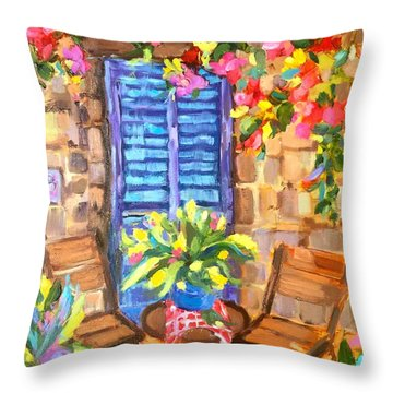 The Color Of Happy Throw Pillow