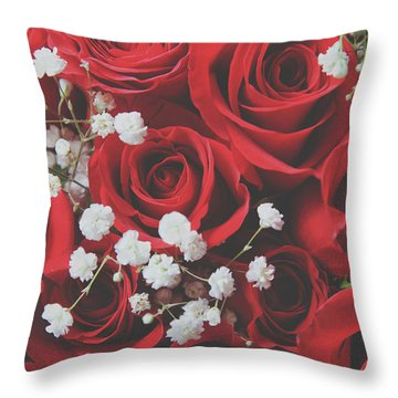 Throw Pillow featuring the photograph The Color Of Love by Laurie Search