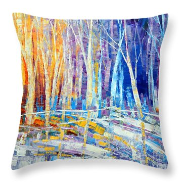 The Color Of Snow Throw Pillow