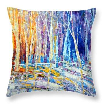 The Color Of Snow Throw Pillow by Tatiana Iliina