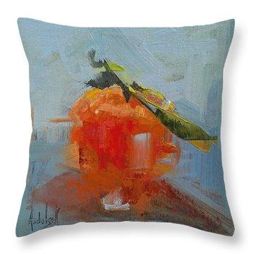 The Color Orange Throw Pillow by Barbara Andolsek