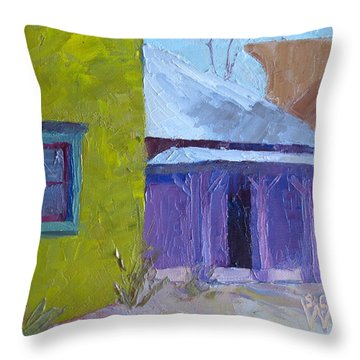 The Color Purple Throw Pillow by Susan Woodward