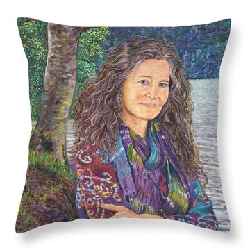 The Color Violet Throw Pillow