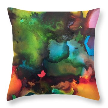 The Color Wheel Throw Pillow