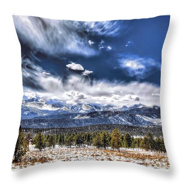 The Colorado Rockies Throw Pillow