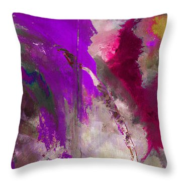 The Colorful Bustier Painting Throw Pillow