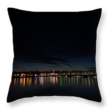 The Colors Of A Nightly Bridge Throw Pillow