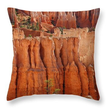 The Colors Of Bryce Canyon Throw Pillow