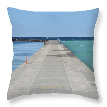 Throw Pillow featuring the photograph The Colors Of Lake Michigan by Fran Riley