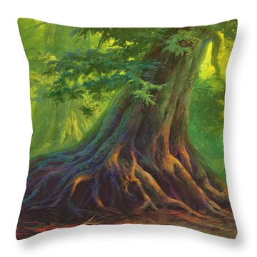 The Colors Of Light Throw Pillow