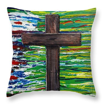 The Colors Of My Father's Heart Throw Pillow