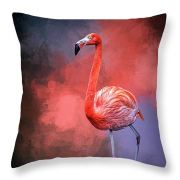 The Colors Of My World Throw Pillow by Cyndy Doty