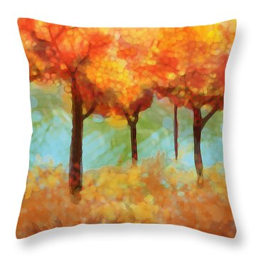The Colors Of New Hampshire Throw Pillow by Patricia Arroyo