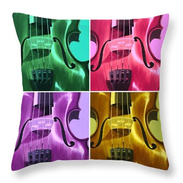 The Colors Of Sound Throw Pillow