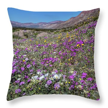 Throw Pillow featuring the photograph The Colors Of Spring Super Bloom 2017 by Peter Tellone