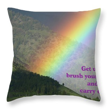 The Colors Of The Rainbow Carry On Throw Pillow by DeeLon Merritt