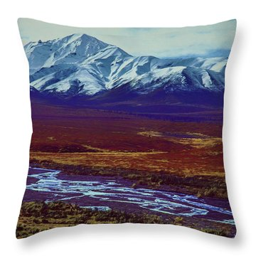 The Colors Of Toklat River Throw Pillow