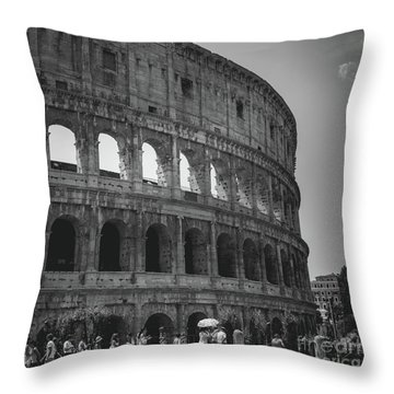 The Colosseum, Rome Italy Throw Pillow