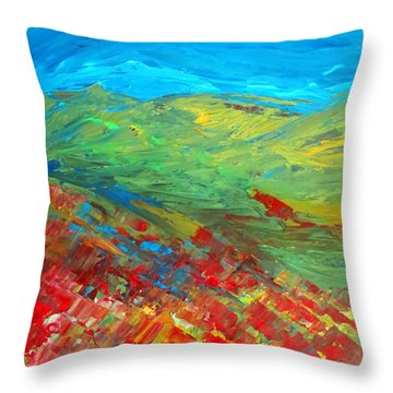 The Colour Of Summer Throw Pillow by Elizabeth Kendall