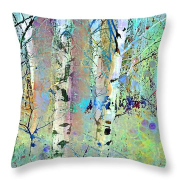 The Colouring Book In The Forest Throw Pillow