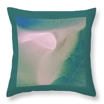 Throw Pillow featuring the photograph The Colours And Patterns Of The Noosa River by Keiran Lusk