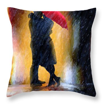 Throw Pillow featuring the painting The Colours Of Love by James Shepherd