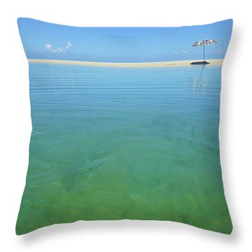 The Colours Of Paradise On A Summer Day Throw Pillow