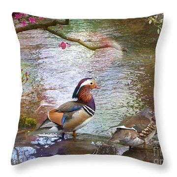 Throw Pillow featuring the photograph The Colours Of Spring by LemonArt Photography